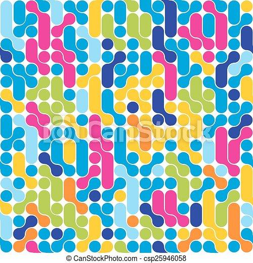 抽象的, pattern., seamless, バックグラウンド。, 流行, 幾何学的 - csp25946058