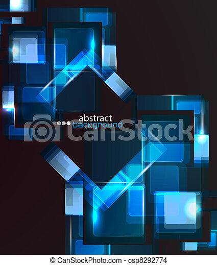 抽象的, techno, 背景 - csp8292774