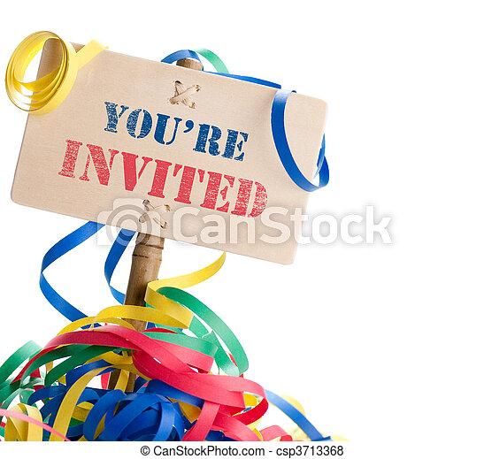 招待された, あなた - csp3713368