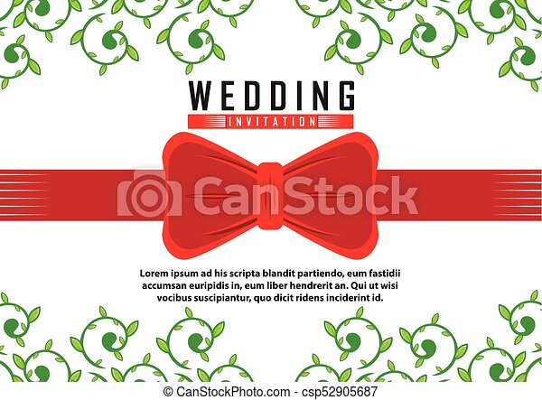 招待, クラシック, 結婚式 - csp52905687