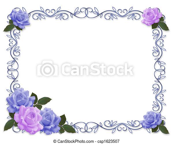 招待, 結婚式, 青, ラベンダー - csp1623507
