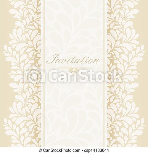 招待, 記念日カード - csp14133844