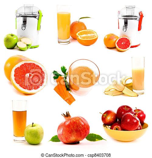 拼貼藝術, 汁, 新鮮 - csp8403708