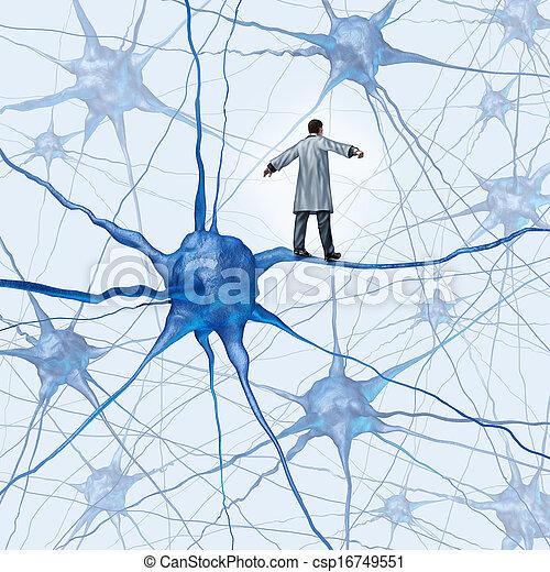 挑戦, 脳, 研究 - csp16749551