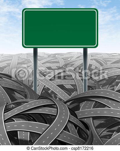 挑戰, 障礙, 空白, 高速公路 簽署 - csp8172216