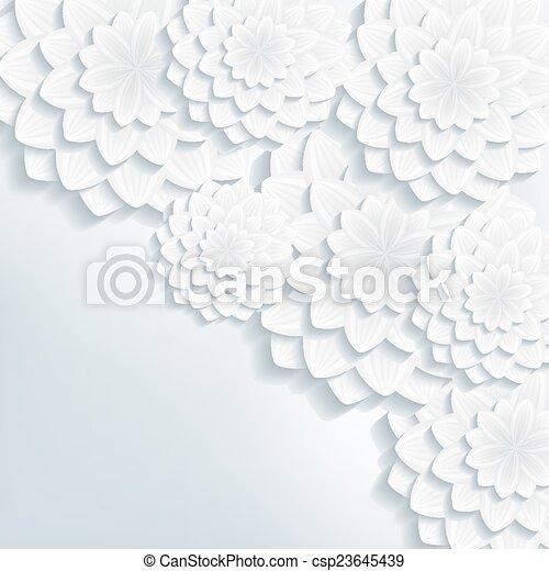挨拶, ベクトル, 招待, 花, ∥あるいは∥, カード, 3d - csp23645439