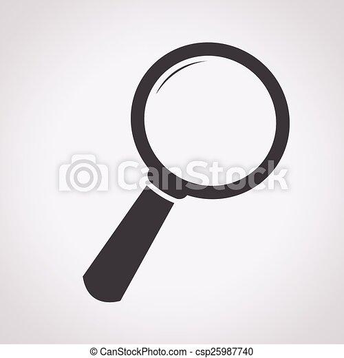 捜索しなさい, アイコン - csp25987740