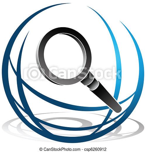 捜索しなさい, 世界的である, アイコン - csp6260912