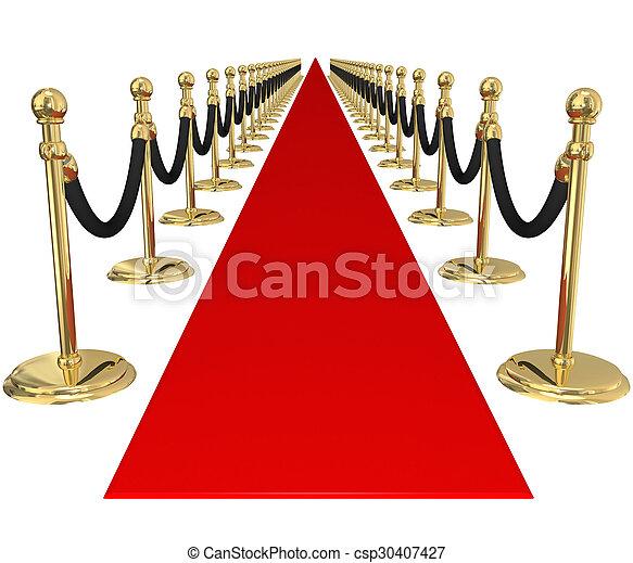 排他的, 金, 歓迎, vip, 招待, パーティー, 支柱, でき事, 赤いカーペット - csp30407427