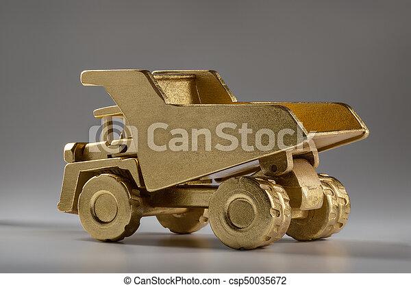 採石場, ゴミ捨て場, 木製である, 大きい, おもちゃ, truck. - csp50035672