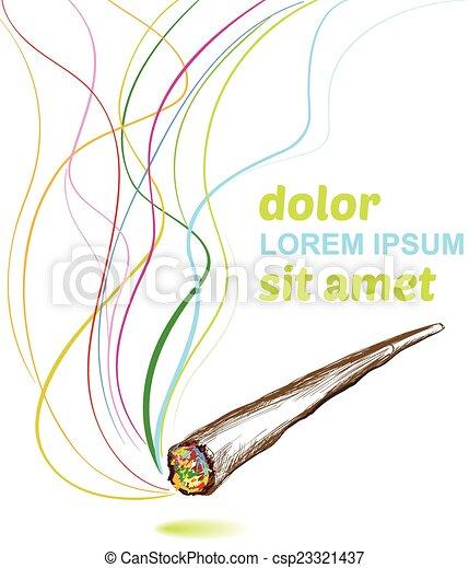 接合箇所, 喫煙, 雑草, 背景 - csp23321437