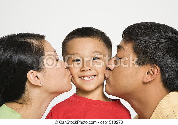 接吻, 親, boy. - csp1510270