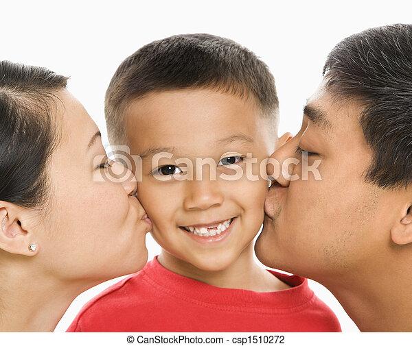 接吻, 親, son. - csp1510272