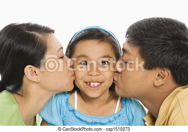 接吻, daughter., 親 - csp1510273
