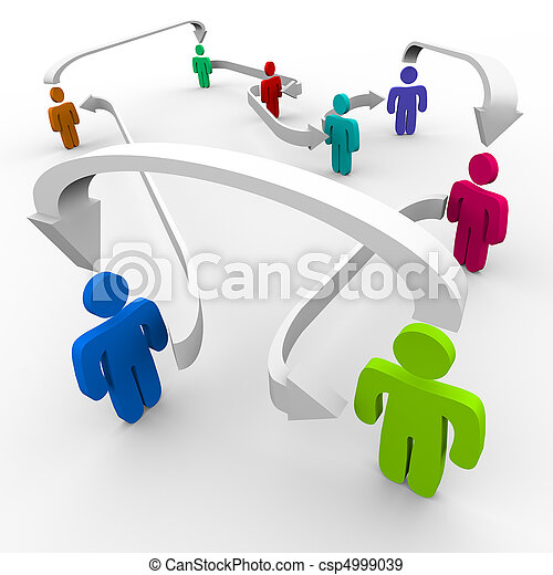 接続される, ネットワーク, 人々 - csp4999039