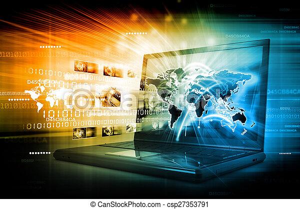 接続, 世界的なネットワーク - csp27353791