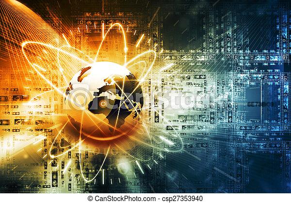接続, 世界的なネットワーク - csp27353940