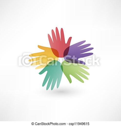 接続, 手 - csp11949615