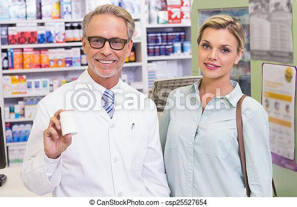 提示, 薬, ジャー, 薬剤師 - csp25527654