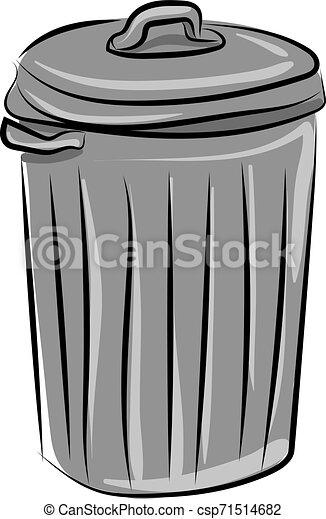 插圖, 罐頭, 背景。, 矢量, 白色, 垃圾 - csp71514682