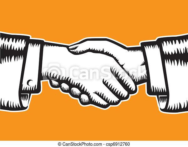 握手, シンボル - csp6912760