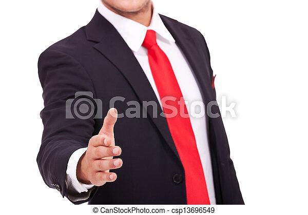握手, ビジネス男 - csp13696549