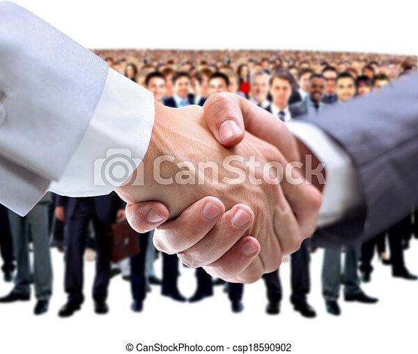 握手, ビジネス チーム - csp18590902