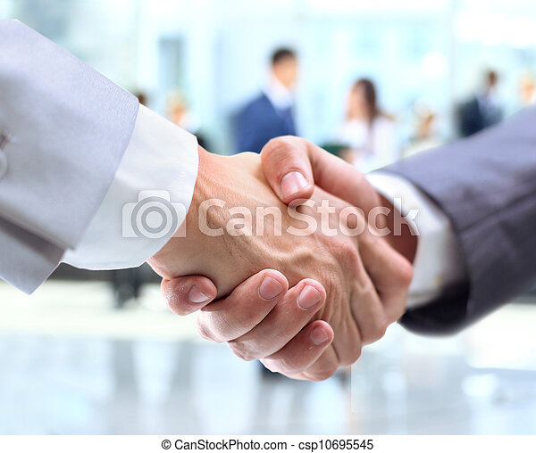 握手, 商务人士 - csp10695545