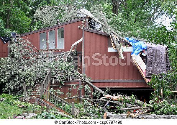 損害, 嵐 - csp6797490