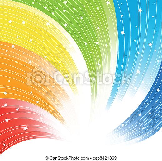摘要, 矢量, 鮮艷, 背景 - csp8421863