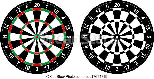 擲鏢的圓靶 - csp17654718