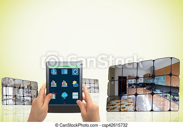 支持できる, 立方体, 成長, concept:, 手 - csp42615732