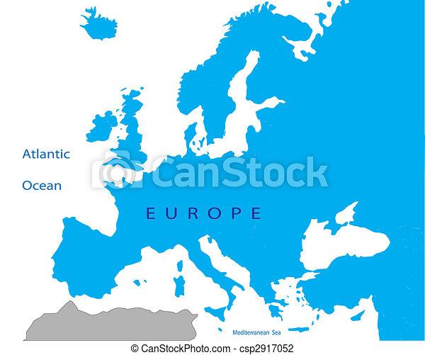 政治的である, ヨーロッパ, 地図 - csp2917052