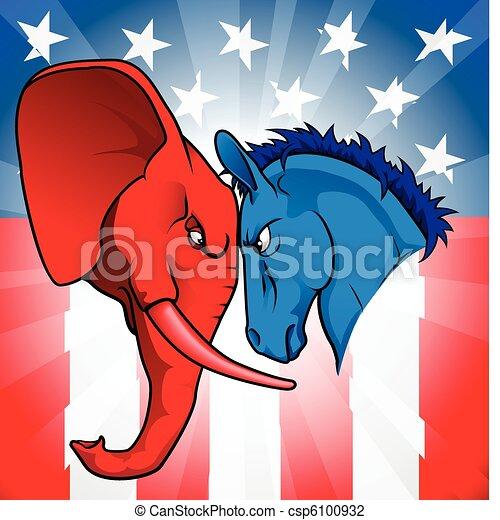 政治, アメリカ人 - csp6100932