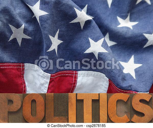 政治, アメリカ人 - csp2878185