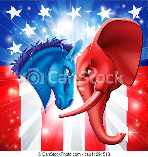 政治, アメリカ人, 概念 - csp11291513