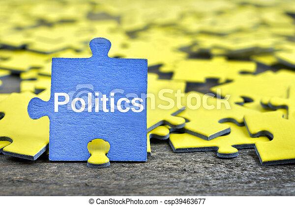 政治, 困惑, 単語 - csp39463677