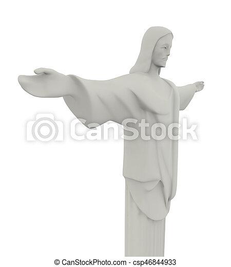救助者, キリスト, 像, 隔離された - csp46844933