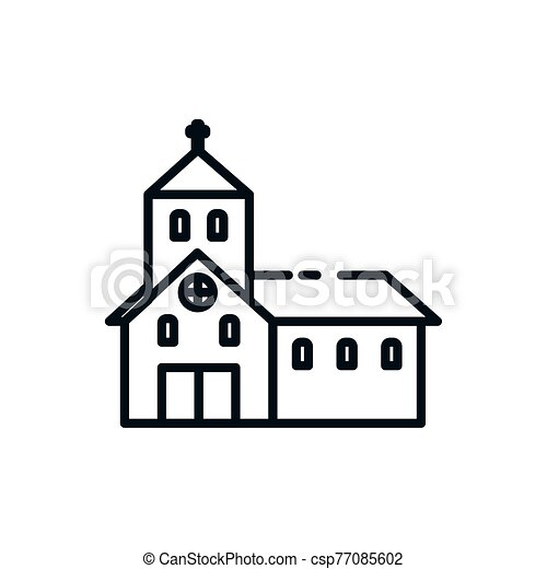 教会, カトリック教, デザイン, シンボル, キリスト教徒, ベクトル - csp77085602