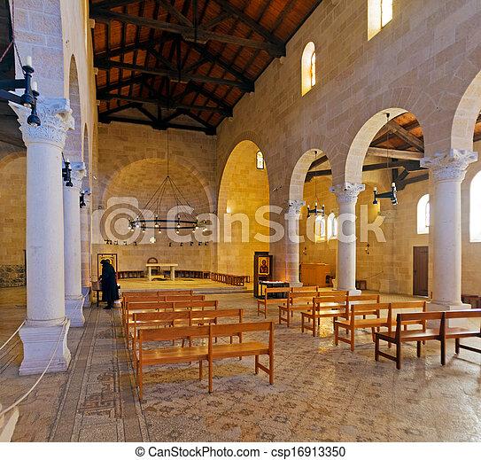 教会, 乗算, 床, モザイク, tabgha - csp16913350