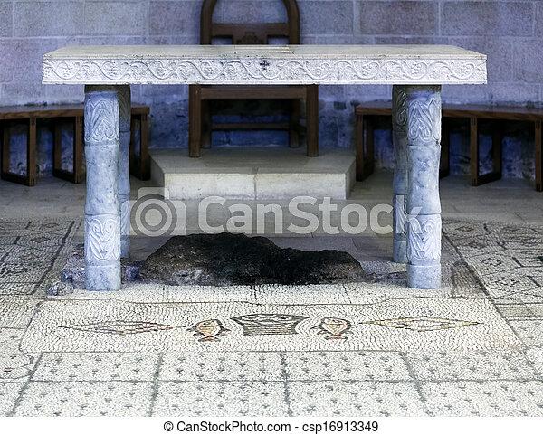 教会, 乗算, 床, モザイク, tabgha - csp16913349