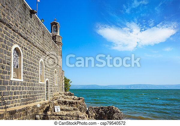 教会, 乗算, fish, bread - csp79540572