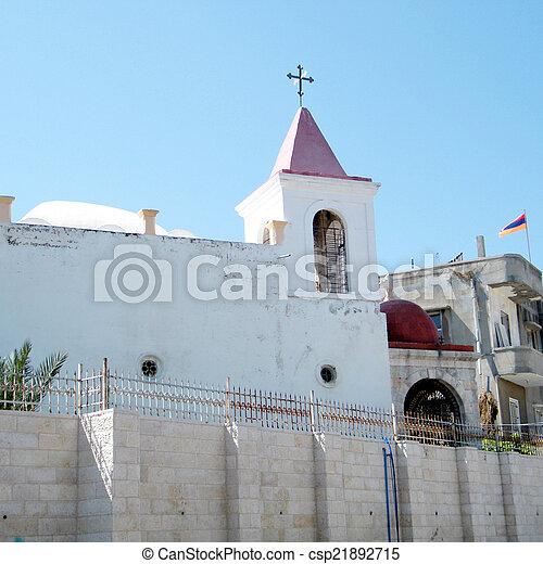 教会, coptic, jaffa, 正統, 2011 - csp21892715