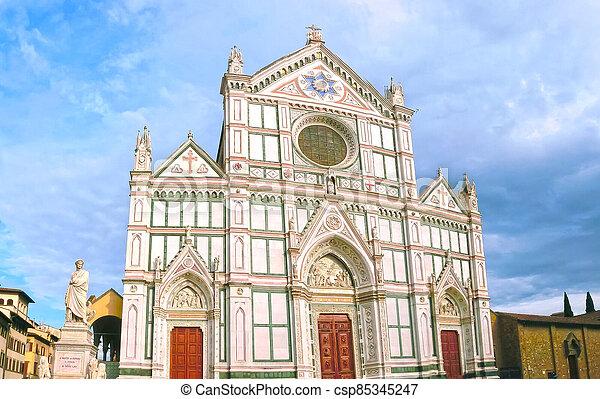 教会, croce, バシリカ, santa, franciscan, イタリア, -, ∥ディ∥, 有名, フィレンツェ - csp85345247