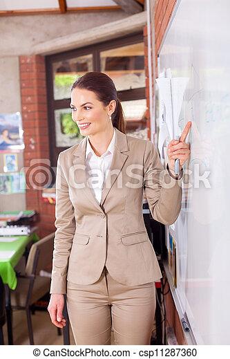 教室, 教授, 学校教師 - csp11287360