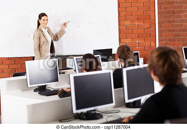 教室, 高校教師, 教授 - csp11287004
