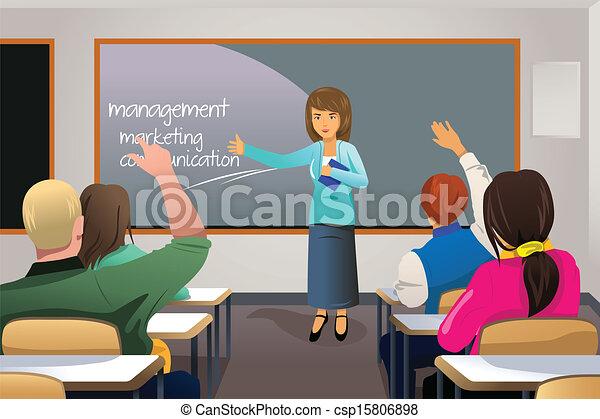 教授, 大学, 教師, 学生 - csp15806898