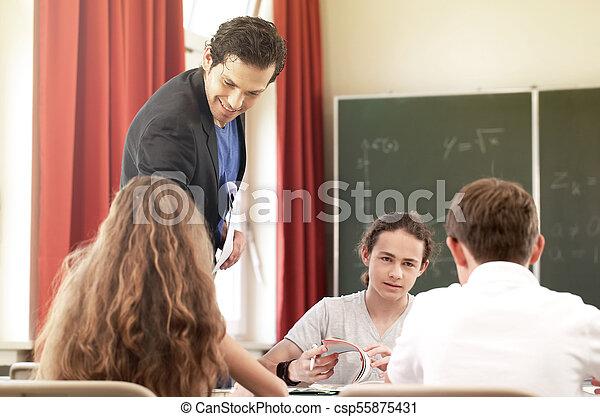 教育しなさい, クラス, 学校教師, 板, 教授, ∥あるいは∥ - csp55875431