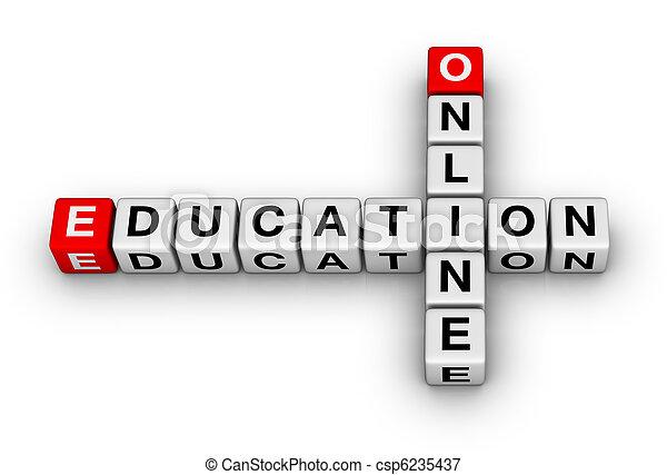 教育, オンラインで - csp6235437