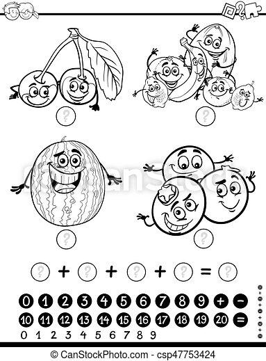 数学, 着色, ページ, 活動 - csp47753424